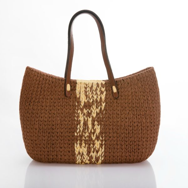 medium crochet tote bag