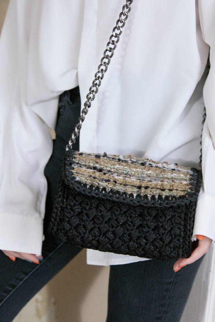 crochet luxury flap bag
