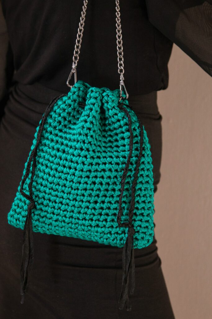 Luxury crochet small pouch bag