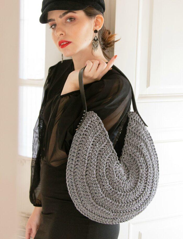 Round boho bag
