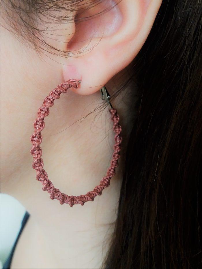 large macrame earring hoops