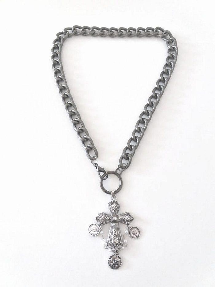 vintage cross necklace