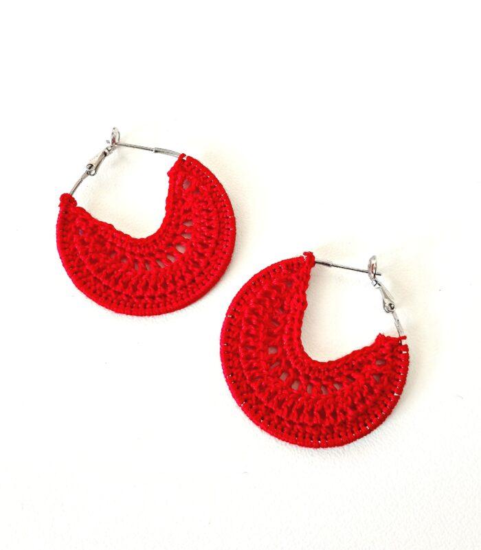 crochet earring hoops