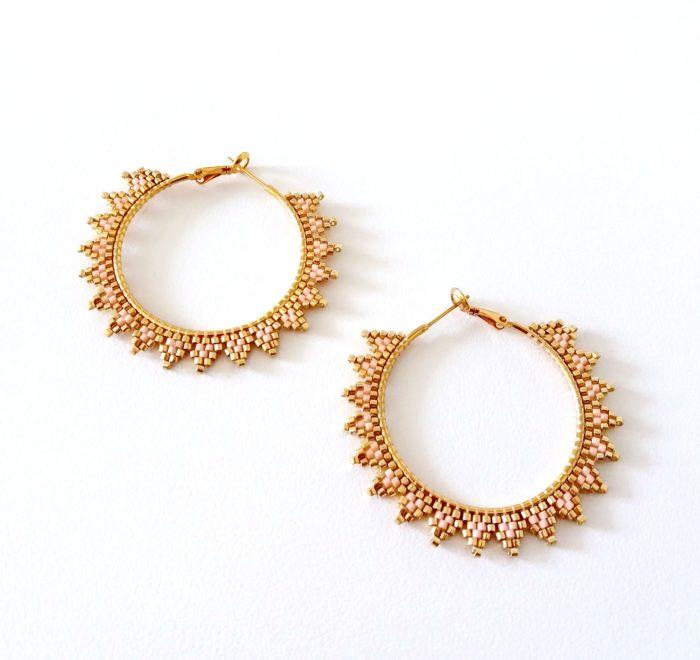 Miyuki beaded earrings