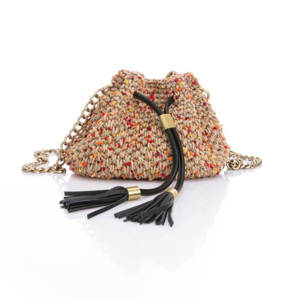 mini crochet bucket bag