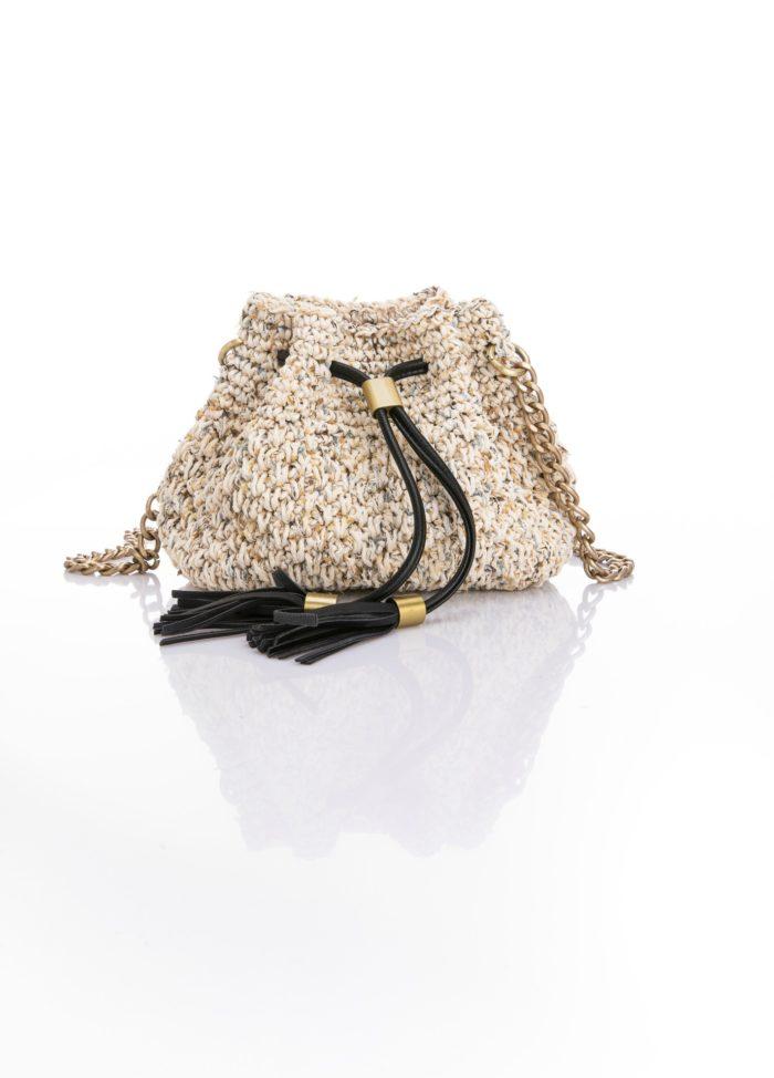 mini crochet bucket bag