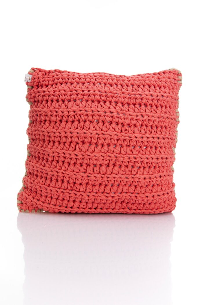 Medium Bicolor Crochet pillow