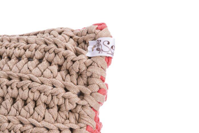 Medium Bicolor Crochet pillow