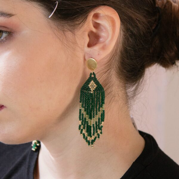 beaded fringed earrings