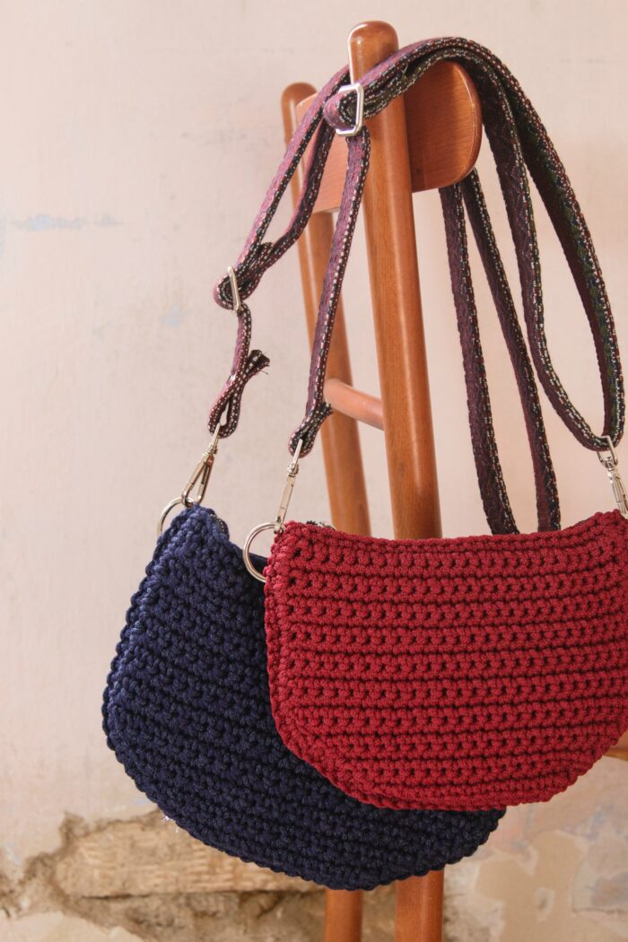 Waist / Shoulder Bag with woven strap