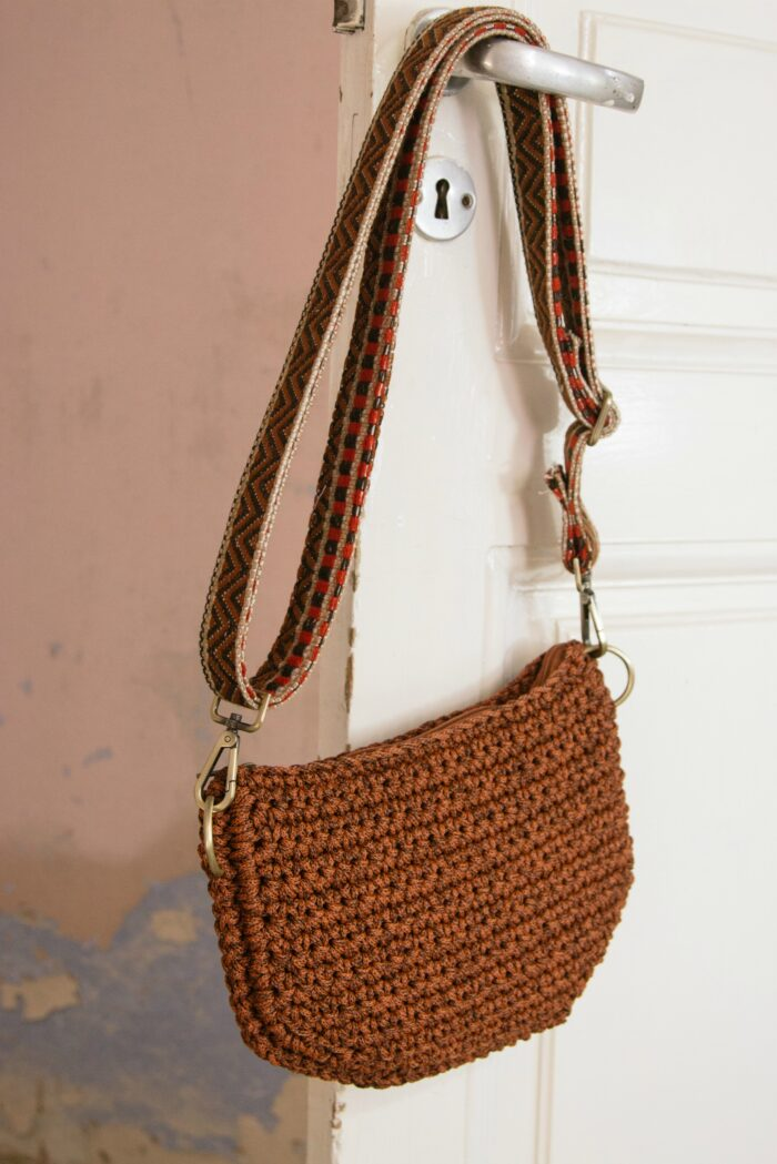 waist/shoulder bag with woven strap