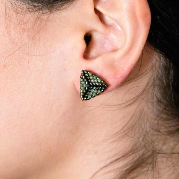 stud beaded earrings