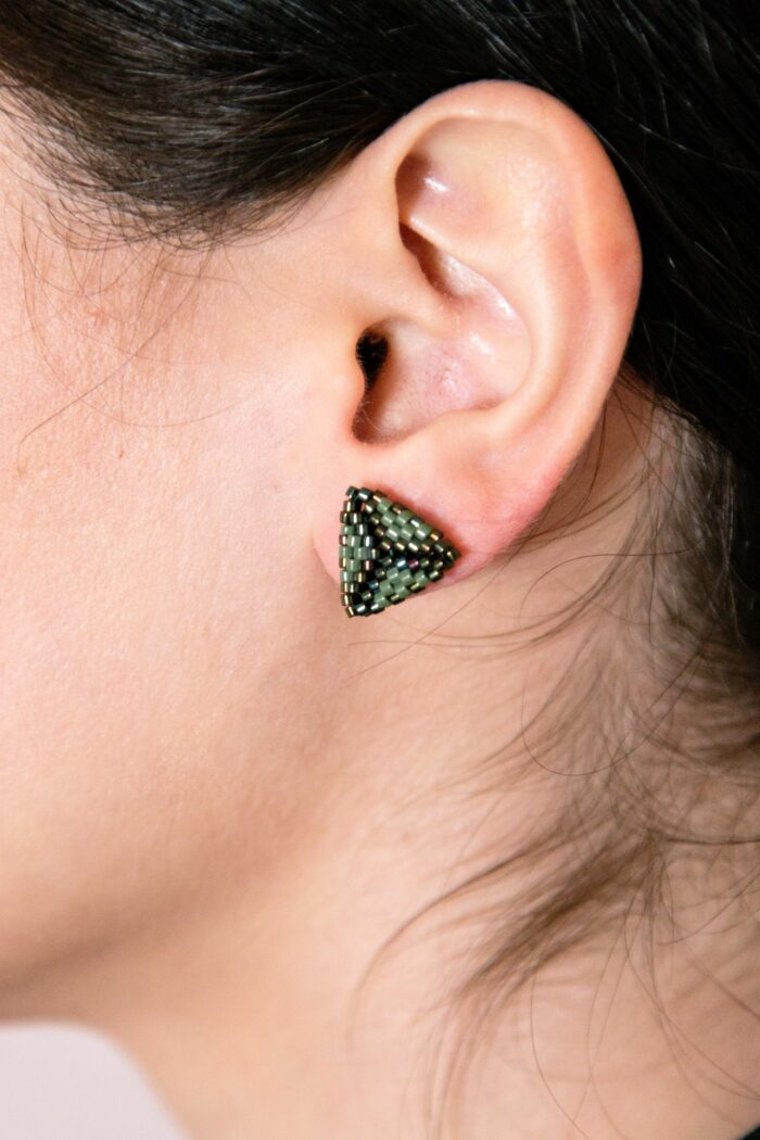 stud beaded earrings