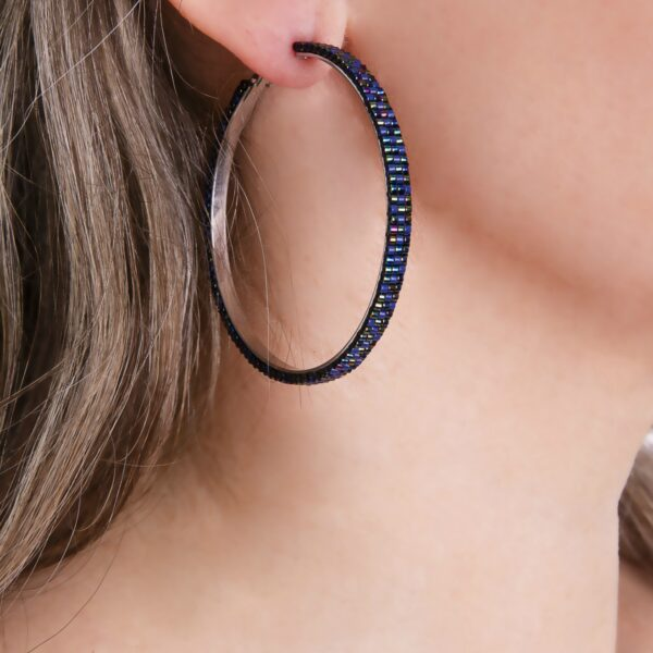 Large beaded earring hoops
