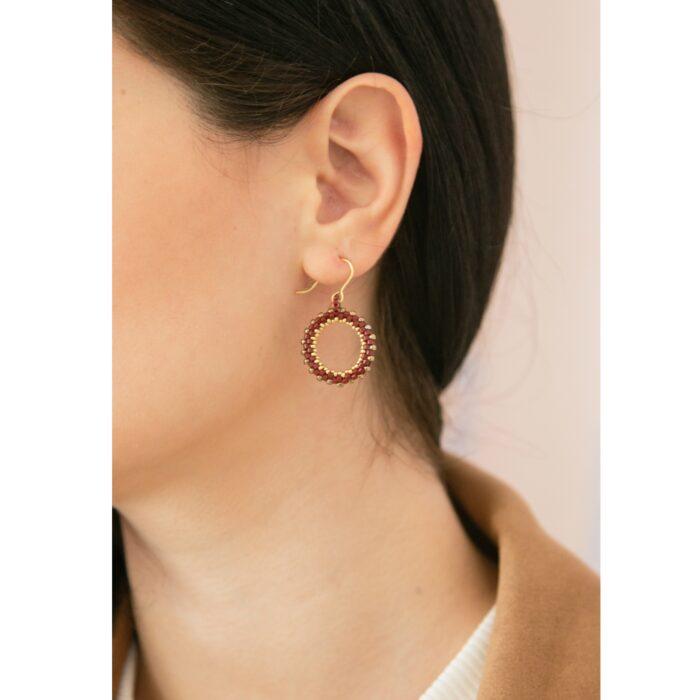 beaded earring hoops