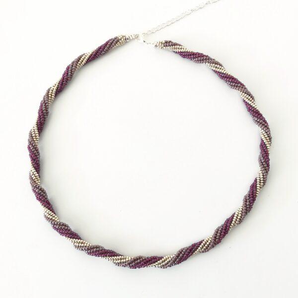 handmade spiral beaded necklace
