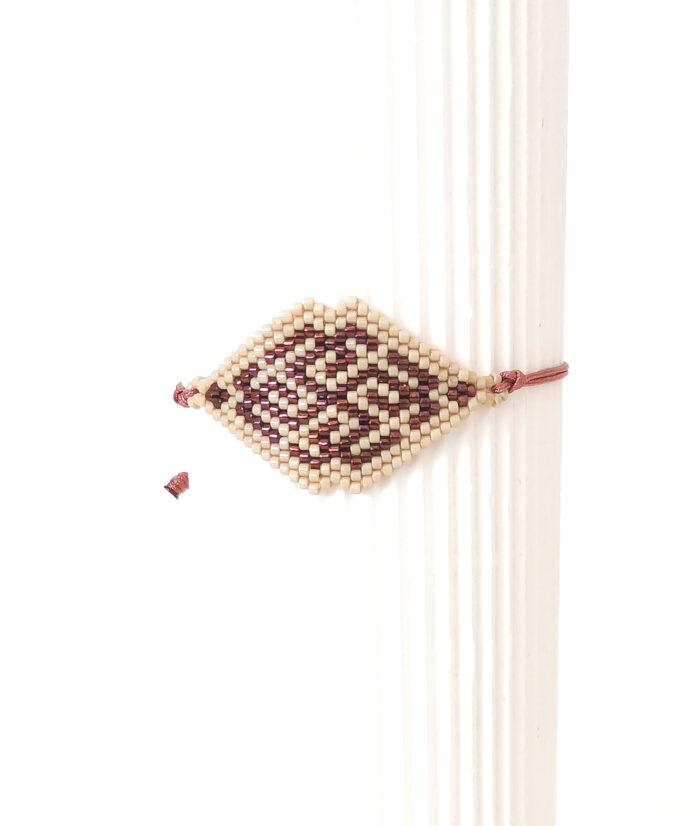rhombus beaded bracelet