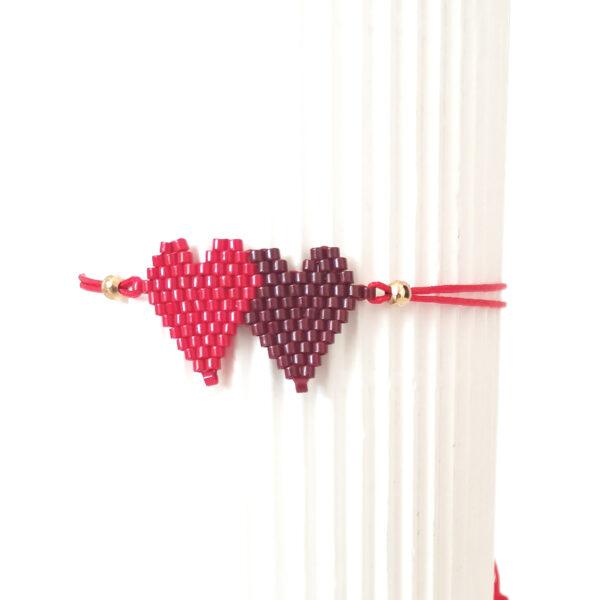 handmade hearts bracelet