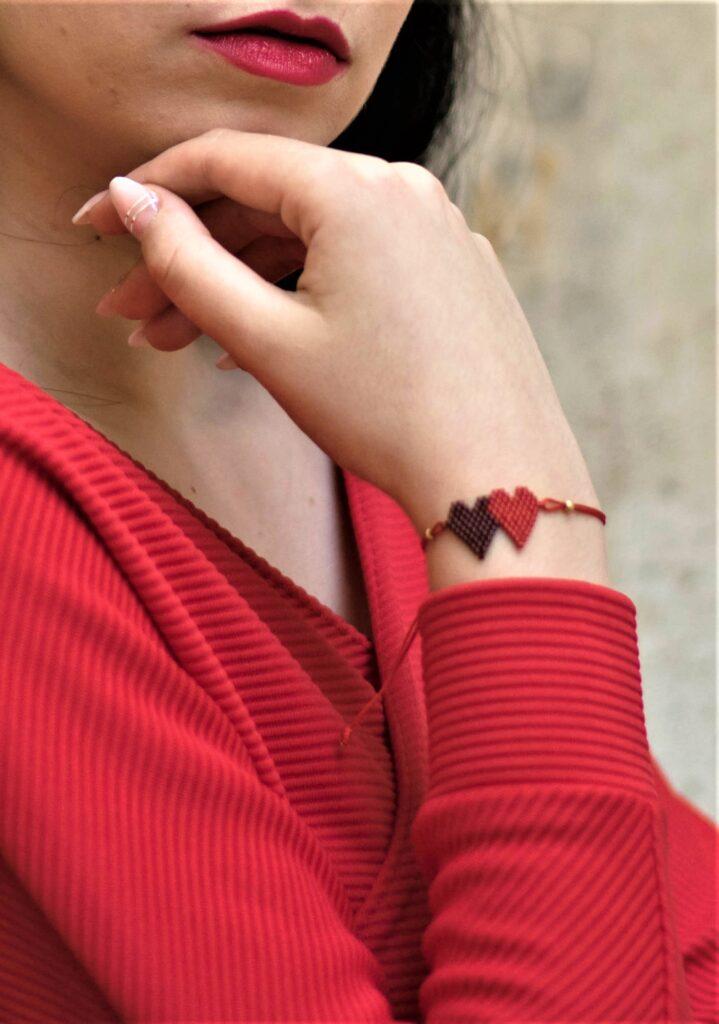 Hearts beaded bracelet