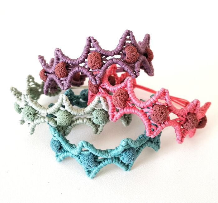 lava stars macrame bracelets