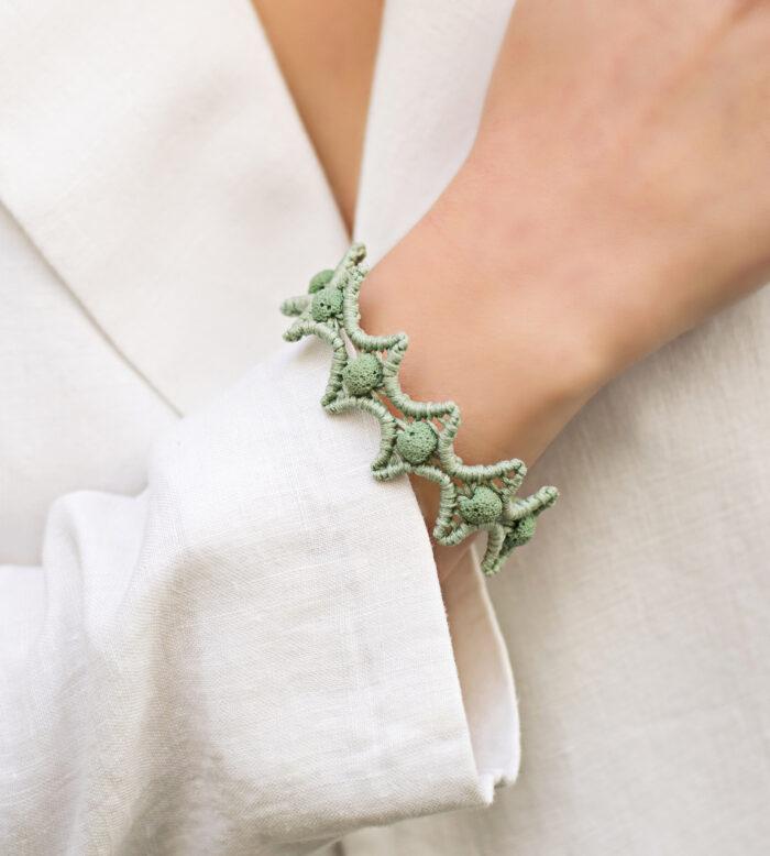 lava stars macrame bracelet