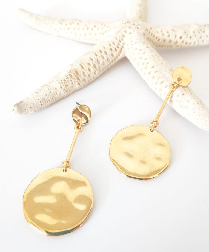 discs long earrings