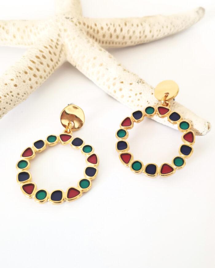 round multi wreath earrings