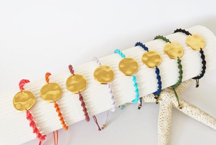 hammered disc bracelets