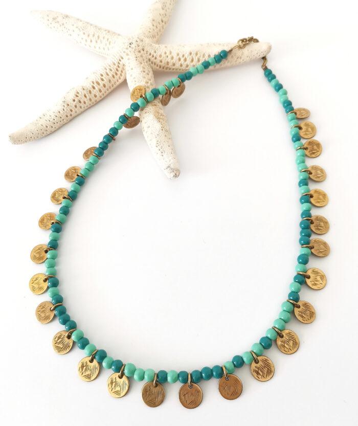 turquoise reef boho necklace