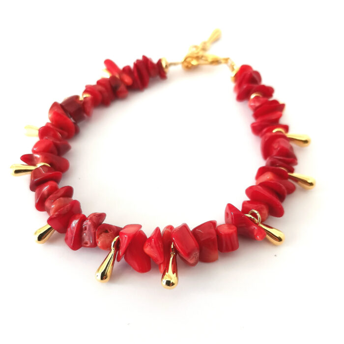 red corals bracelet