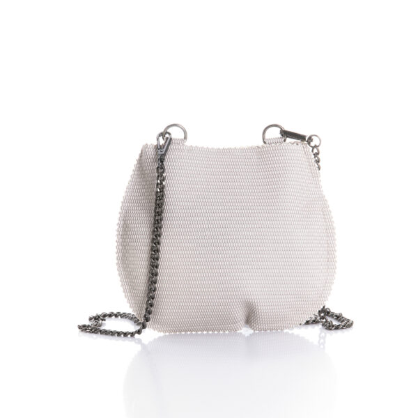 small semi round bag in eco lether