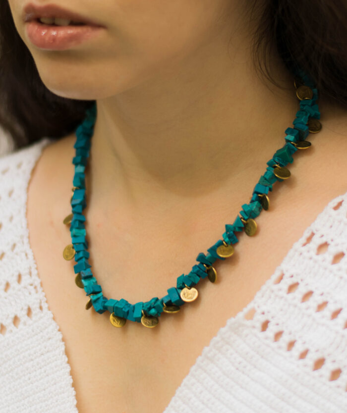 blue reef boho necklace