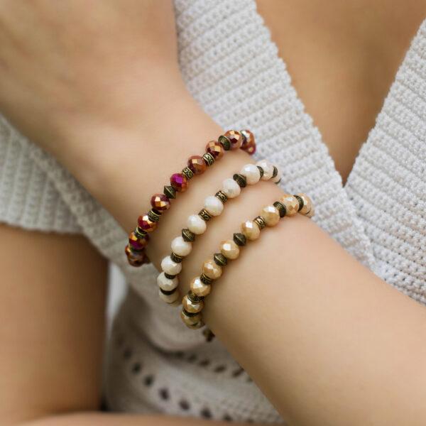 boho stones bracelets bronze