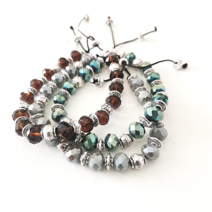 boho stones bracelets silver