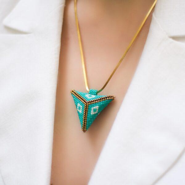 large 3d beaded pendant