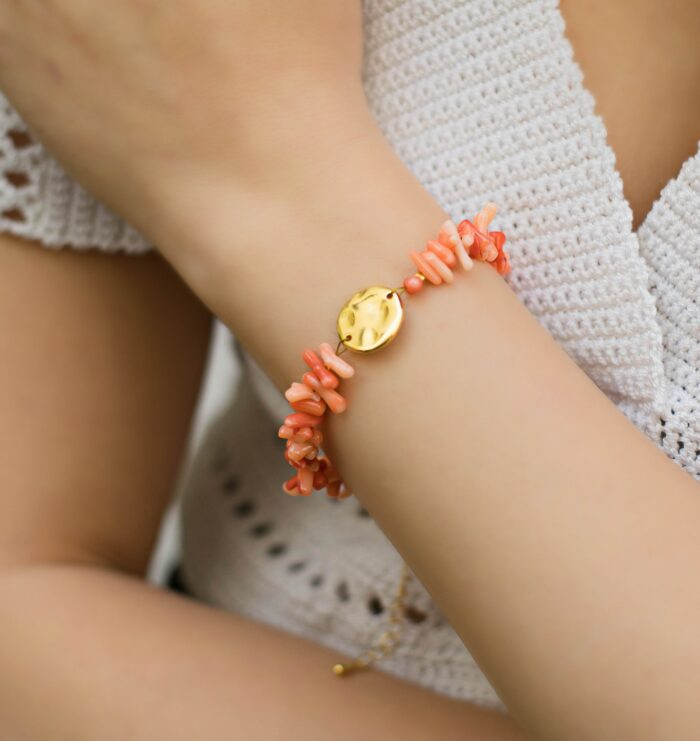 pink corals bracelet