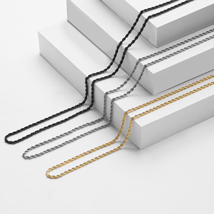 twisted stainless steel chains