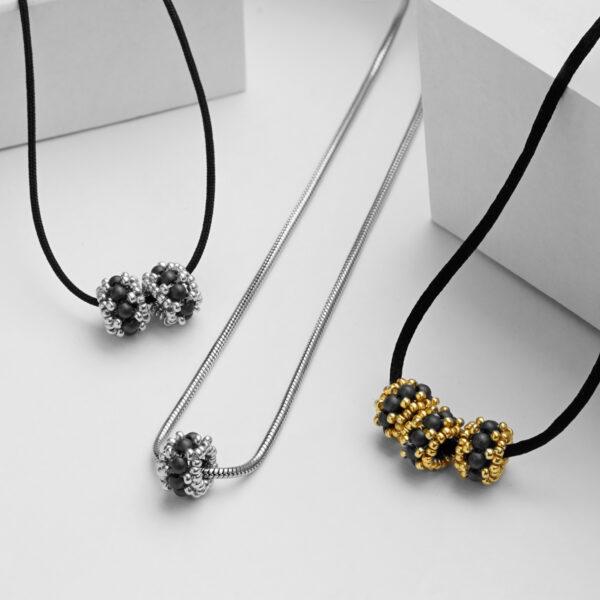 Mat Hematite beads pendants