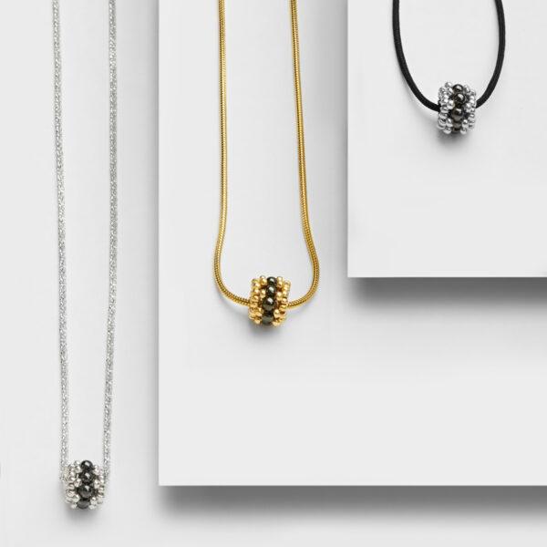 hematite bead pendants
