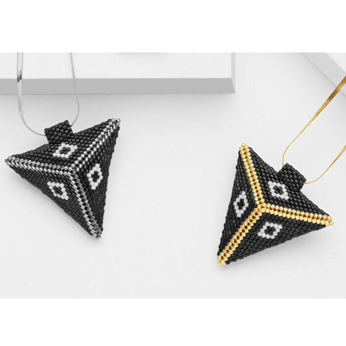 Big 3d triangle pendants