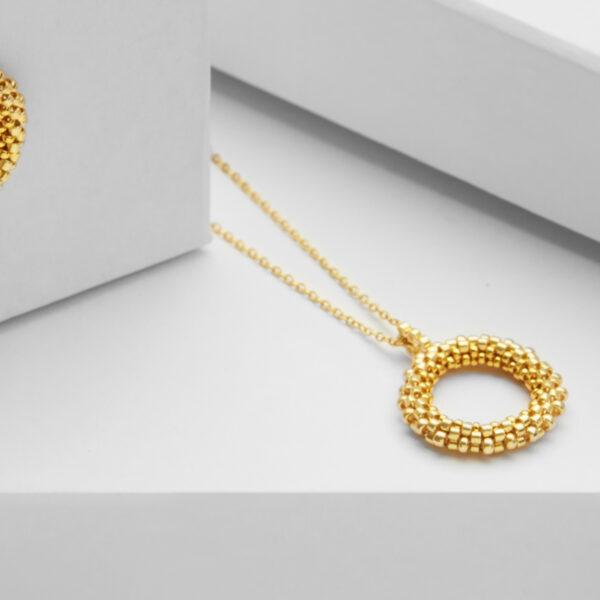 mini circle pendant gold
