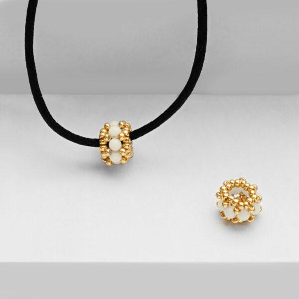 white jade single bead pendant